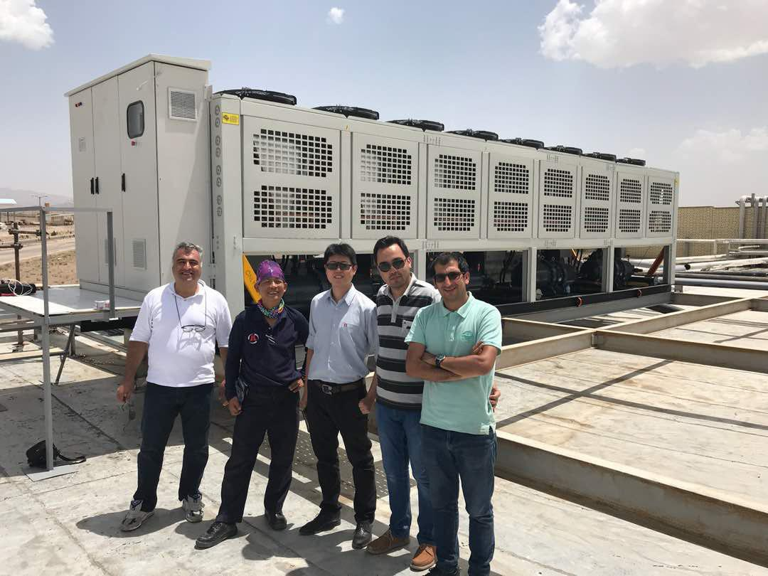 Hanbell's After Sales Service Team  Has Visited Armanik's In Operation Screw Chiller